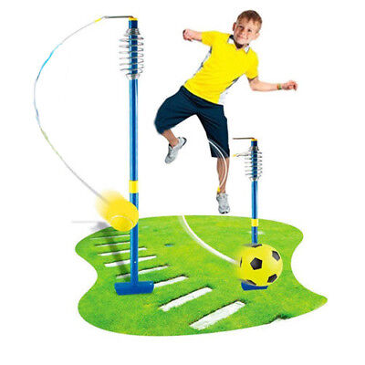 New 2 In 1 Swingball Tennis Football Kids Fun Garden Game Toy Reflex Activity