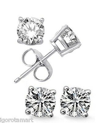 3d7009ceaf2e1 STERLING SILVER SQUARE CZ Crystal Mens Ear Stud SINGLE Earring For ...