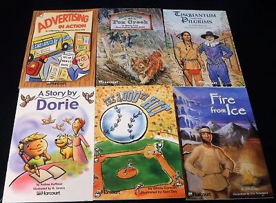 Lot of 6 Harcourt School Publishers On & Below Level 5th Grade 5 Readers Books