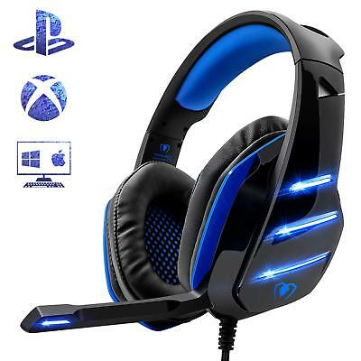 Gaming Headset Headphones for PS4 Xbox Ones PC Noise Reduction Mic Clarity 3.5mm