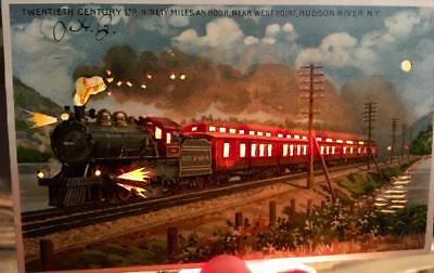 West Point Hudson River Koehler HTL Hold To Light 20th Century Ltd Railroad NY