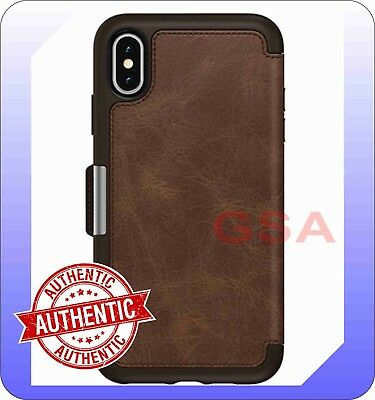 detailed look d6740 4cbd6 OTTERBOX STRADA FOLIO Case for iPhone Xs Max - Brown Leather Color