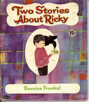 """VINTAGE Whitman Tell-A-Tales Book """"TWO STORIES ABOUT RICKY"""" 1966 B. Frankel VG"""