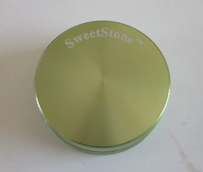 NEW 2 piece GREEN 55 mm SweetStone Anodized Aluminum Herb Spice Tobacco Grinder