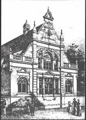 London - Walthamstow Central Library 1894 drawing - Museum postcard, 1983