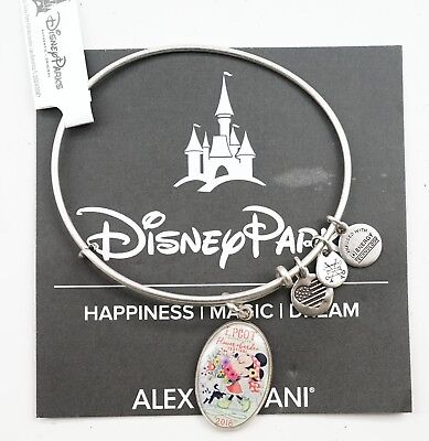 New Disney Alex and Ani Epcot Flower Garden Festival 2018 Bangle Bracelet Silver