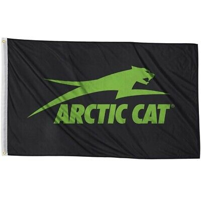 Arctic Cat Nylon 2 x 3 Aircat Flag - Black & Green - 5283-083