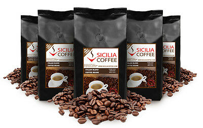 5kg Sicilia Coffee ITALIAN BLEND Coffee Beans, Freshly Roasted, Strong, Smooth