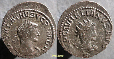Ancient Roman Coin - Billon Antoninianus of Vabalathus/Aurelian - Antioch mint