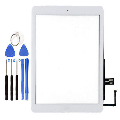 """White 9.7"""" Touch Screen Digitizer Glass +Home Button For iPad 6 2018 A1893 A1954"""