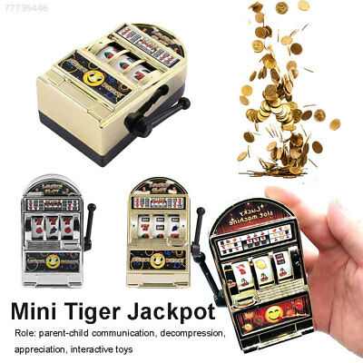 Mini Creative Slot Machine One Arm Bandit Armed Tokens Baby Kids Toy Xmas Gift