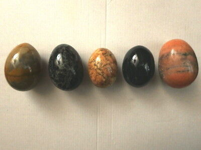 Lot of 5 Different Marble / Agate Eggs - FREE Shipping