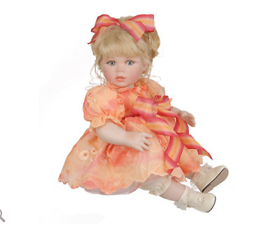 "12"" Summer Sunset Seated Porcelain Doll by Marie Osmond C2497"