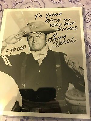 F TROOP Cpl Agarn LARRY STORCH Hand Signed Photo Autograph