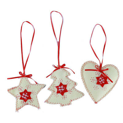 Merry Christmas Non-Woven Tree Hanging Pendant Xmas Home Party Supplies LG