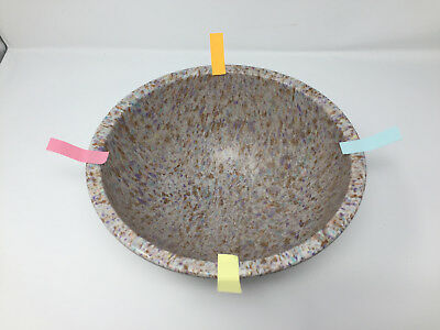 Texas Ware 118 Confetti Splatter Speckled Mixing Bowl 70s Pebbles in the Water