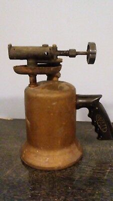 Antique Brass & Cast Iron Wall Blow Torch. Superior Products Blowtorch Pistogrip