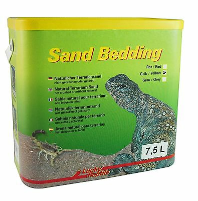 Lucky Reptile SB-Y Sand Bedding, 7.5 Litre, Yellow