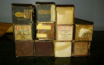VINTAGE LOT of 11 Player Piano Music Rolls ARTO ROLL MELODEE QRS +