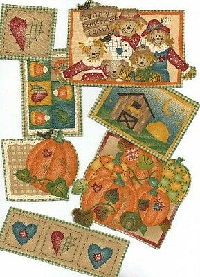 Fall Country Pumpkin Patches  - Iron On Fabric Appliques,