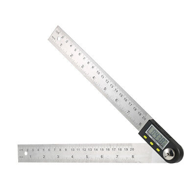 0-200mm/8 inch Stainless Steel Ruler 360° Digital Protractor Angle Finder F4V1