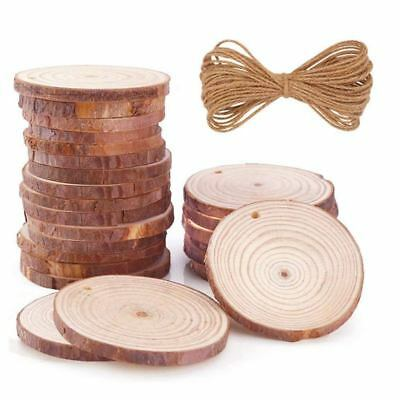 Natural Wood Slices 35 Pcs 2.4inch-2.8inch Unfinished Wood Rounds with Holes  N8