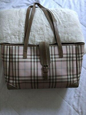 70c0d49f0cc8 Burberry Mason Pink Plaid Tote Purse Briefcase Weekender Bag See matching  items