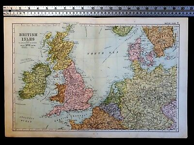 Bacon's Antique Map. The British Isles.1898.
