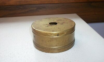 Brass Dental Holder (for old pins?)  Buffalo Dental Mfg Co. Circa 1890s