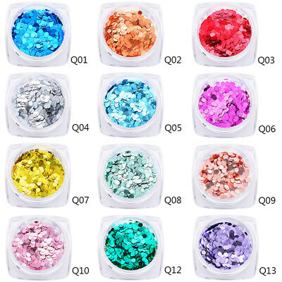 MTSSII 1g Glitter Nail Art Sequins Flakes Ultrathin Round Nail Manicure Tips New