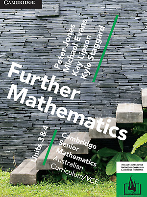 Cambridge Further Mathematics VCE Units 3 & 4 PDF Textbook **FAST DELIVERY**