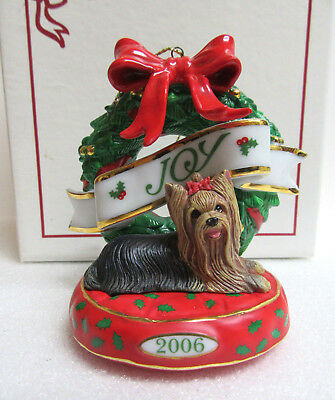 Danbury Mint Yorkie Youre My Favorite Treat Snow Globe