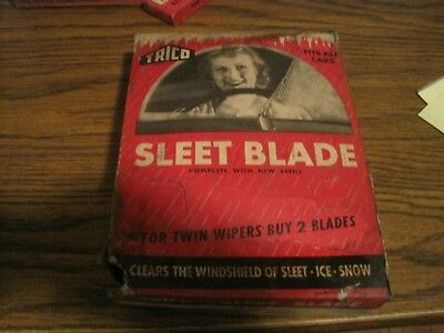 Vintage Trico Sleet Blade, Original Display  Box!