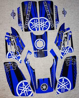 Yamaha Warrior Blue/White/Black/Carbon Decals Stickers Quad Graphics 16pc kit
