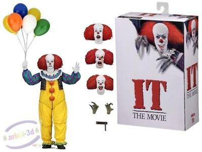 Stephen King's Pennywise IT Action Figure Ultimate NECA Horror Movie Clown 1990