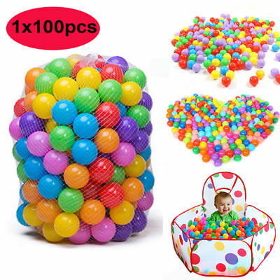 100pcs 7cm Baby Kids Colorful Ocean Ball Soft PE Funny Secure Swim Pit Pool Toy