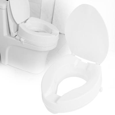Max Mobility Raised 10cm Toilet Seat with Lid - Resistant to stains & odors AU