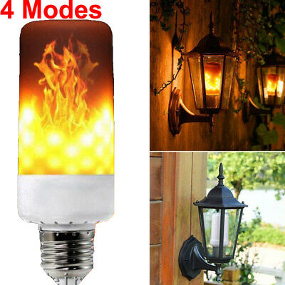 4 Models LED Flame Effect Animated Flickering Fire Light Bulbs Decorative Lamp