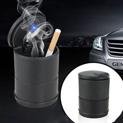 Car Ashtray Auto Travel Cigarette Ash Holder Cup with Blue LED Light Indicator