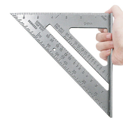 7'' 0-90° Metric Ruler Aluminum Alloy Speed Square Roofing Triangle Protractor
