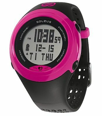 Soleus Women's SG007-011 GPS SOLE Pink Stainless Steel Watch with Black Polyuret