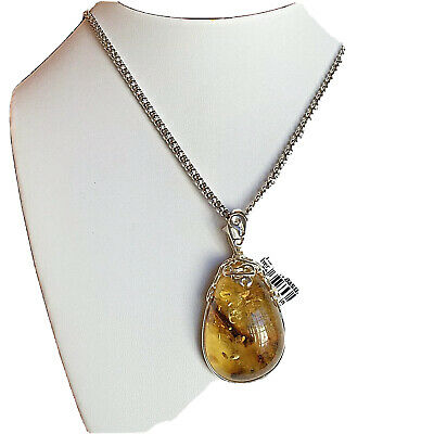 Russian Baltic Amber Necklace Genuine Butterscotch Vintage Egg Yolk Polish 老琥珀