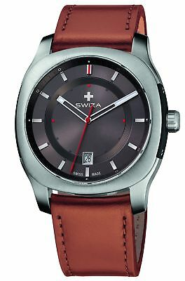 Swiza Men's WAT.0541.1002 Nowus Analog Display Swiss Quartz Brown Watch