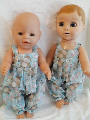 "17"" Handmade Dolls Clothes  Handmade To Fit  Baby Born ,luvabella , Luvabeau"