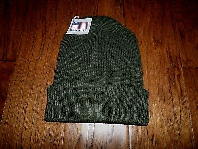 Od Green G.i Issue 100% Wool Watch Cap With Gore-Tex Membrane Usa Made