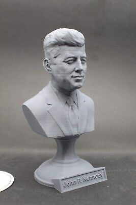 John F. Kennedy JFK 5 inch 3D Printed Bust USA President #36 Art FREE SHIPPING
