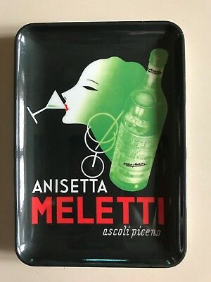 Vintage 80's RARE Meletti Anisetta Change Tray Advertising Italy Mint Condition