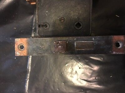 Antique Japanned Copper Flash Finish Arts & Crafts Period Door Mortise Lock