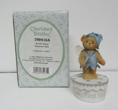 Cherished Teddies 2002 Tooth Fairy 'My First Tooth' covered box 790516A