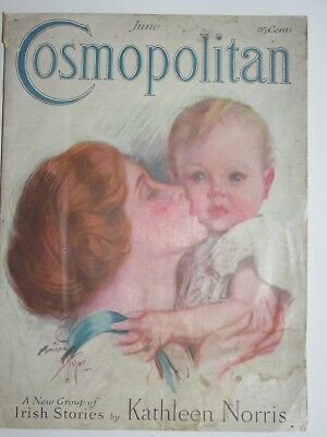 Vintage Magazine Cosmopolitan June 1923 w Neat Old Ads (see photos)